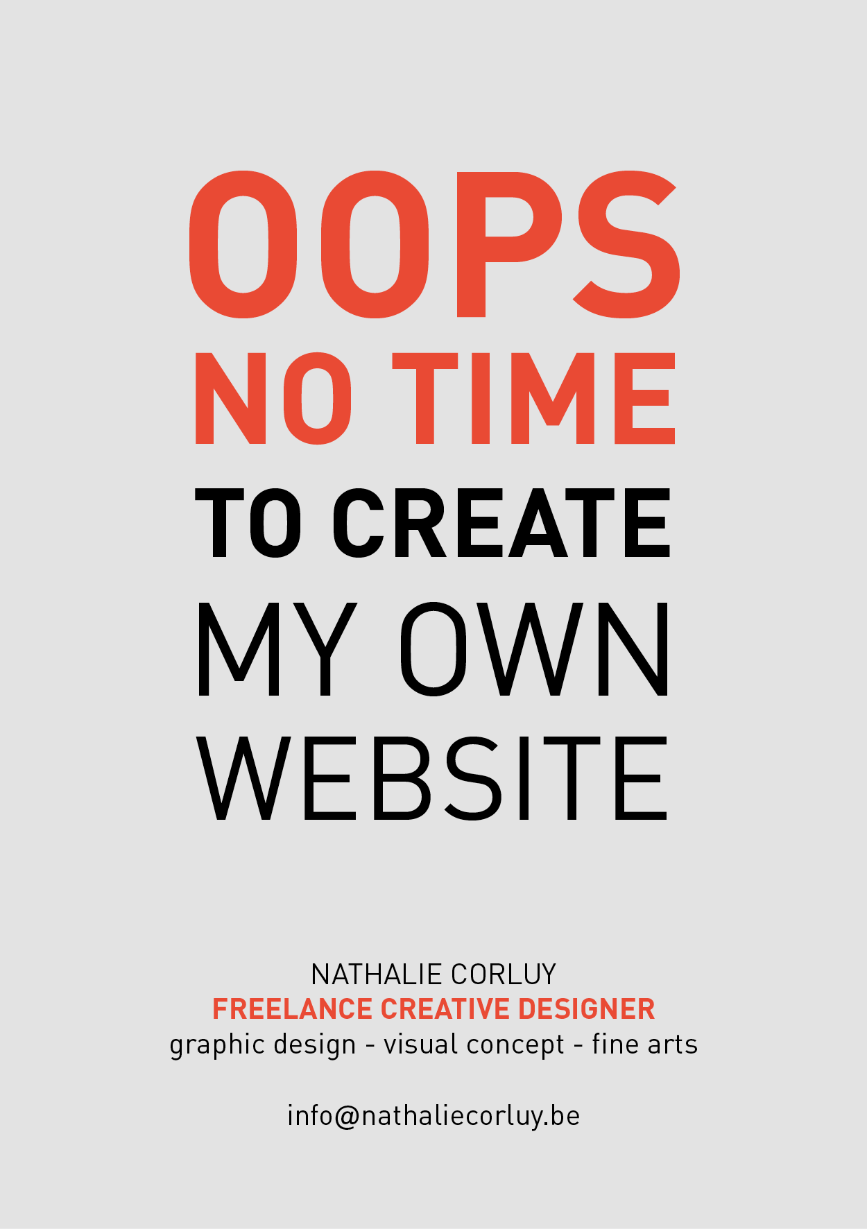 Nathalie Corluy - Freelance Designer  - Website under construction